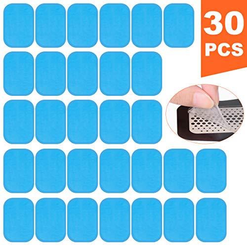 Koiteck ems ricambio gel pezzi,gel pad elettrostimolatore, gel pad di ricambio gel per elettrostimolatore muscolare 30 pcs (2 pcs/sacchetto