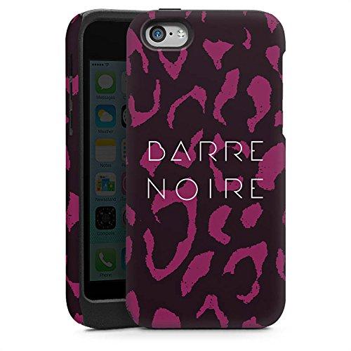 Apple iPhone 4 Housse Étui Silicone Coque Protection BARRE NOIRE Fashion Léopard Cas Tough brillant