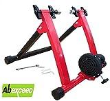 ABEXCEED Rodillo de entrenamiento para bicicletas, con 5 niveles de resistencia magnética y...
