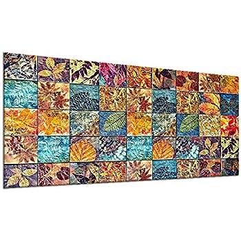 Ceranfeldabdeckung 1 Teilig 90x52 cm Herdabdeckplatten aus Glas Elektroherd Induktion Herdschutz Spritzschutz Glasplatte Schneidebrett Mosaik QTA