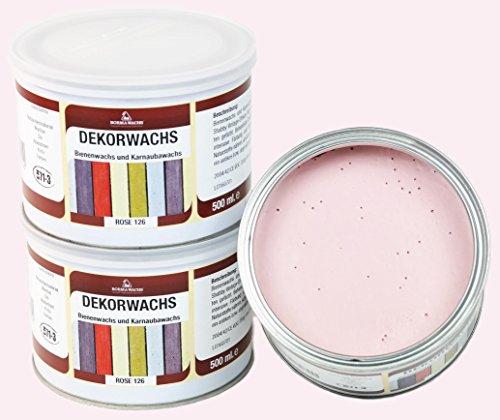 Borma DEKORWACHS 500 GRAMM; Kalkwachs in 7 tolle Pastellfarben (Rosa)