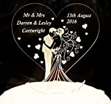 Personalised Mr & Mrs Wedding Cake Topper Gift and Lucky Keepsake by ItemsOfDesire(TM)