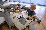 TOTORO letto Materasso XXL, peluche, morbido, grigio, regalo migliore per i bambini 1,5m x 1m