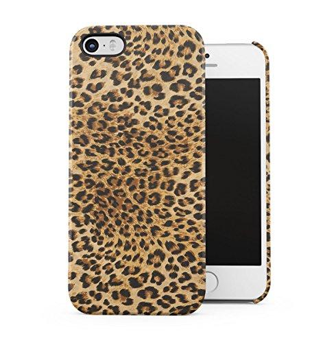 Leopard Fur Pattern Dünne Handy Schutzhülle Hardcase Aus Hartplastik Hülle Kompatibel mit iPhone 5 / iPhone 5S / iPhone SE Handyhülle Case Cover (Leopard Handy Cover Für Iphone 5)