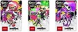 Splatoon 2 amiibo 3 sets (Girl Neon Pink, Boy Neon Green, Squid Neon Purple) (Splatoon series) Import Japan