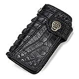 Carteras hechas a mano para hombres y mujeres largas Nilo piel de cocodrilo personalidad tejido de...