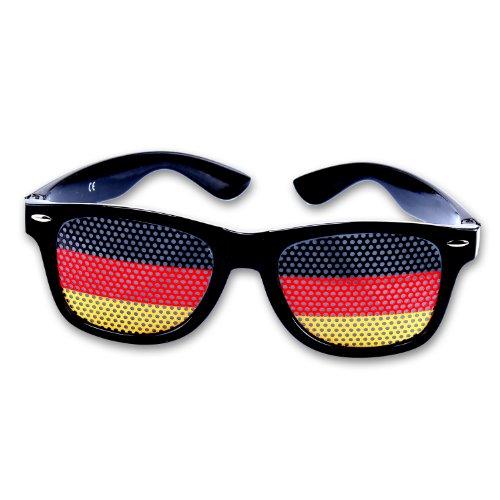 Coole Fanbrille Sonnenbrille WM Deutschland Brille in schwarz rot gold (einzeln)