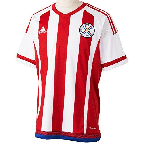 adidas para hombre de manga corta camiseta de Paraguay Replica jugador-del, primavera/verano, hombre, color Blanco - White/Apf Red/Blue S09, tamaño L