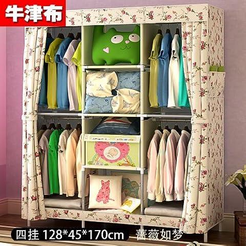 WJP modernos armarios simplificada de tela de refuerzo de bricolaje armario ropero W-594