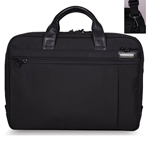 ShengTS 17 Zoll High Capacity-Laptop-Tasche mit Widen Umhängetasche Schulter Messenger Bag Passend bis 17.3 Zoll Gaming Laptops, Built-in Anti-Schock-Sleeve (Akkordeon Aktentasche)