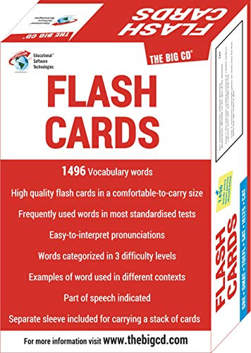 GRE GMAT TOEFL SAT IELTS CAT Flash Cards by THE BIG CD