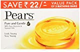 #3: Pears Pure and Gentle Soap Bar, 125g (Pack of 3, Now at Rupees 22 off)