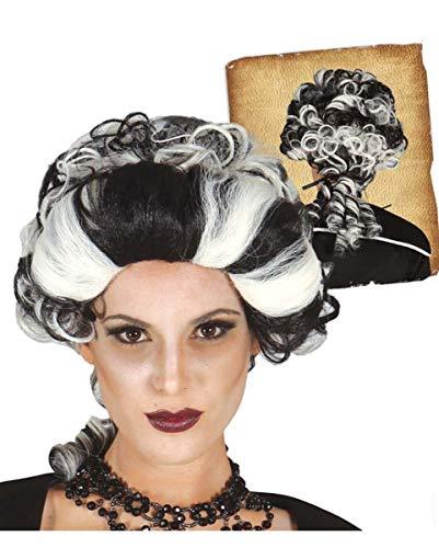 Horror-Shop Vampir Barock Gräfin Baroness Perücke zweifarbig für Halloween & (Baroness Halloween Kostüme)