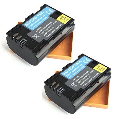 BPS 2 x LP-E6 LP-E6N Li-Ion Akku für Canon EOS 5D Mark II, EOS 5D Mark III, EOS 70D, EOS 80D, EOS 6D, EOS 7D, EOS 60D, EOS 5DS, EOS 5DS R Digitalkamera, Canon Battery Grip BG-E9,BG-E7,BG-E11,BG-E13,BG-E14,BG-E16,Canon Akku Ladegerät LC-E6E Digital Camera Battery Grip