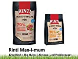 Rinti Max-i-mum | 12kg Rind + 4kg Huhn Hundetrockenfutter Aktionspack