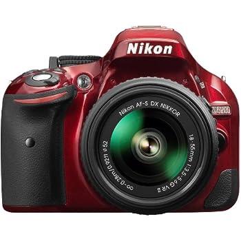 Nikon D5200 Digital SLR with 18-55mm VR II Lens Kit - Red (24.1 MP) 3.0 inch LCD
