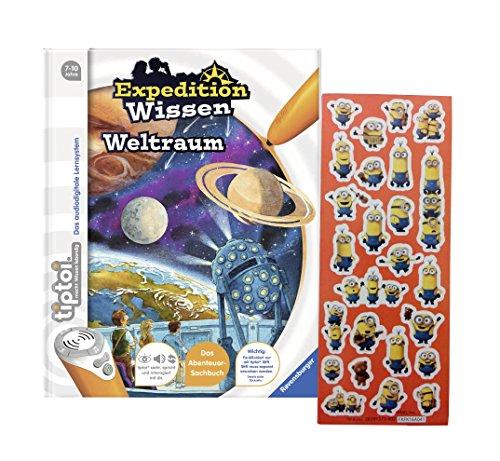 Ravensburger tiptoi ® Buch Expedition Wissen: Weltraum + Gratis Minions Sticker