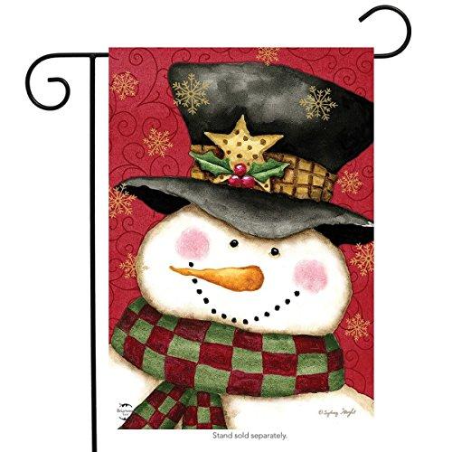 Briarwood Lane Holly Jolly Schneemann Weihnachten Garten Flagge Holly Schneeflocken 31,8x 45,7cm Holly Lane