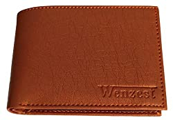 Wenzest Tan Mens Formal Wallets