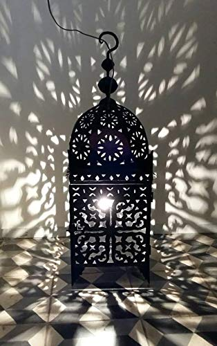 ""\'Farol marroquí (""""fnaia 60cm  orientales marroquí Wind Luz Jardín Wind Luz | marroquí metal Farol para exterior como linterna, Jardín o interior como Farol de mesa""