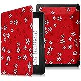 """Fintie Funda para Kindle Voyage - Ultra Slim Smart Case Funda Carcasa con Auto-Sueño / Estela Función para Amazon Kindle Voyage 6"""" Pulgadas E-reader, Floral Red"""