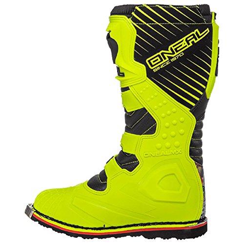 O'Neal Rider Boot Crank MX Cross Stiefel Neon Gelb Pin It Motorrad Enduro Motocross Offroad, 0329-0, Größe 44 - 3