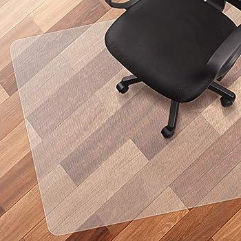 MY SIT Tappeto salvapavimento Tappeto per Sedia da Ufficio per Pavimenti duri PVC Protezione Rettangolare Antiscivolo Misure 90 x 90 cm