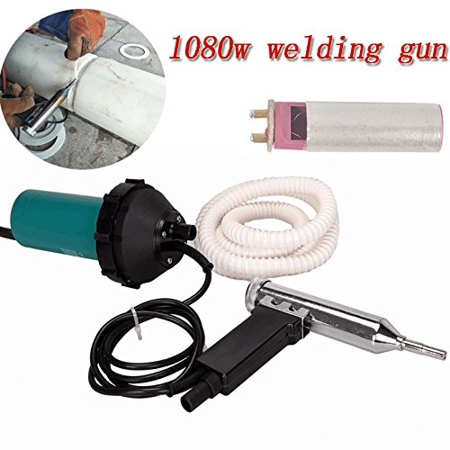 1080 Watt Split kunststoff schweißen Heißluftschweißpistole Schweißer Heißluftpistole mit Rohr Netzteil Werkzeug mit Dreieck Düse