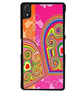 Printvisa Double Hearts Pattern Back Case Cover for Sony Xperia Z2::Sony Xperia Z2 L50W D6502 D6503