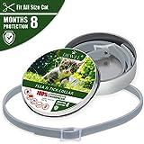 Cane collare antipulci pulci e zecche collare per cani regolabile impermeabile Proteggere per gatti e cani (S(34.5cm))