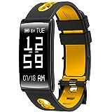 Lemumu Neue HM 68 Smart Armband Blutdruck Blut Sauerstoff Herzfrequenz trainieren Schlaf Überwachung Sms wasserdicht Anti verloren, Gelb