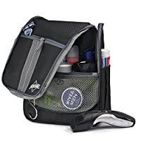 Globeproof® Travel Toiletry Bag Hanging for Women & Men �?? Portable Folding Wash Bag With Many Compartments and Sturdy Hook