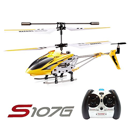 Syma S107G 3CH RC Radio Mini Alloy Remote Control Helicopter with Gyro Genuine Yellow
