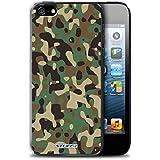 Coque de Stuff4 / Coque pour Apple iPhone 5/5S / Vert 3 Design / Armée/Marine militaire/Camouflage Collection