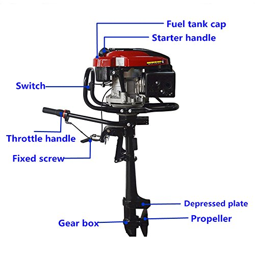 4-stroke 7HP Superior Engine Outboard Motor Inflatable for sale  Delivered anywhere in UK