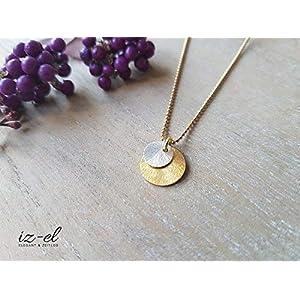 Gold-Silber-Mix Kette 925 silber vergoldet
