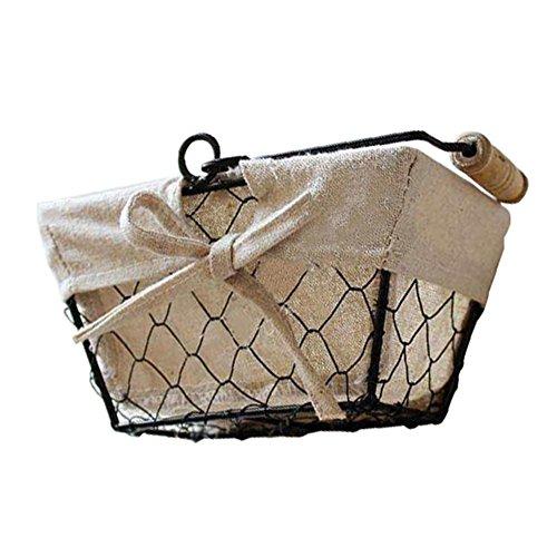 Somedays - Cesta almacenamiento alambre hierro, organizador