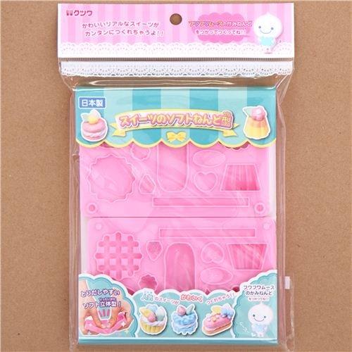 rosa 3D Formen Schablonen für Ton Süßigkeiten Makronen