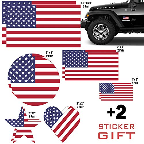 Us American Flag Vinyl Decal Army Navy Tactical Military Country Wetterfeste Stoßstange Aufkleber Set Für Auto Lkw Wohnmobil Motorrad Fahrrad