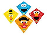 Rhombus 0911149 -  Sesamstraße Kite 4 Sortiert, Drachen Flugspielzeug
