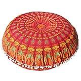 Caso di Cuscino Boemo,Kword Grande Mandala Pavimenti Cuscini Di Meditazione Rotonda Cuscino Di Yoga Pouf Copertina (A)