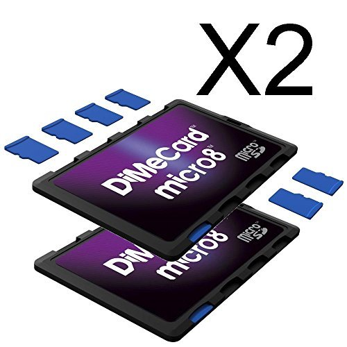 DiMeCard micro8 microSD Memory Card Holder 2-PACK (Ultra thin credit card size...