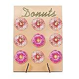 Holo Cute Donut Wall Cake Alternative Donutwand Aufsteller Rustic Country Hochzeit Candy Bar Tortendeko by