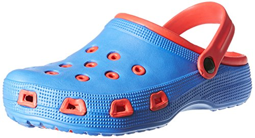 Nivia 491207BR Rubber Slip On Clogs, Size 7 (Red/Blue)