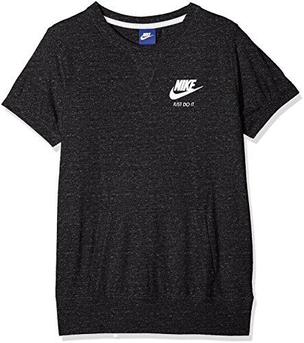 Nike Sportswear Vintage Camiseta, Niñas, Multicolor (Negro/Azul Brillante), L