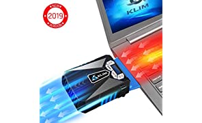 ⭐️KLIM™ Cool Universal Gaming Laptop PC Cooler - High Performance Fan for Fast Cooling Action - USB Hot Air Extractor - Blue - [ New 2019 Version ]