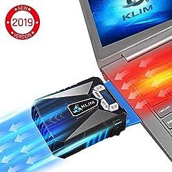 KLIM Cool Refroidisseur - PC Ventilo Portable Gamer - Ventilateur Haute Performance pour Refroidissement Rapide - Extracteur d'Air Chaud USB Bleu - Nouvelle 2019 Versio