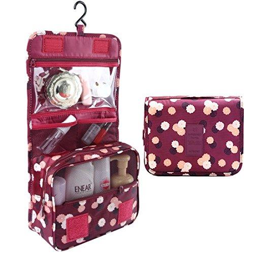 duoguan Reisen Zusammenklappbar Kosmetiktaschen Kulturtaschen mit Haken Wasserdicht Wash Bag Make Up Organizer Storage 2