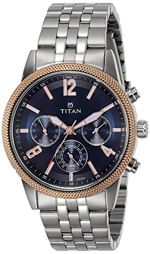 Titan Neo Analog Blue Dial Men's Watch-NK1734KM01