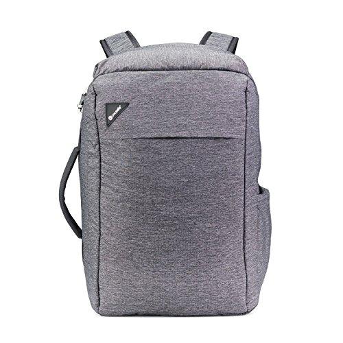 Pacsafe Vibe 28L Anti-Theft Backpack Rucksack, Handgepäck mit Sicherheitstechnologie 28 Liter, Grau Melange/Granite Melange